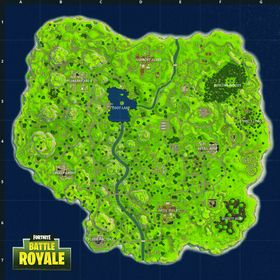 Kartet til Fortnite Battle Royale.
