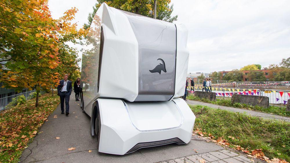 Einrides T-Pod er en selvkjørende lastebil som kan komme på veien i 2020 dersom det går som selskapet håper.