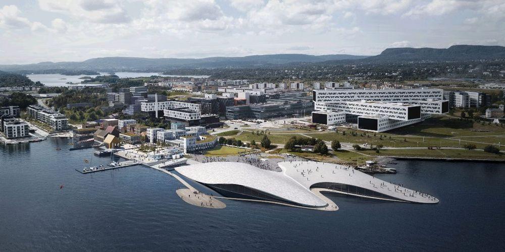Fornebu: Selvaag ønsker å bygge et akvarium på mer enn 10. 000 kvadratmeter og syv millioner liter vann ved Sjøflyhavna på Fornebu. Det gjør akvariet til Nord-Europas største.