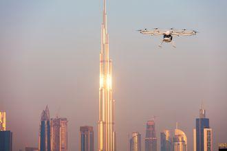 Volocopter demonstrert i Dubai.