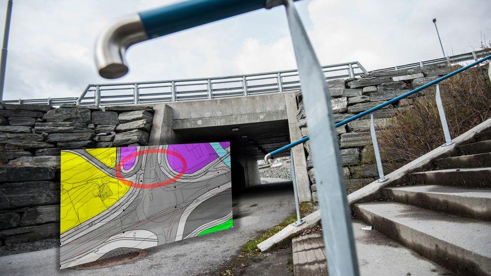 I dag kan myke trafikanter krysse Årø rundkjøring trygt gjennom Årø undergang. Men kommunen og Vegvesenet unnlot å bygge en undergang da rundkjøringen først ble bygget. Se hele kartet i saken for nærmere beskrivelse.