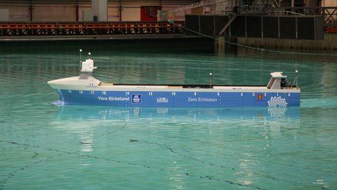 Skal være klar til bruk i 2020: I dag startet testingen av verdens første autonome containerskip