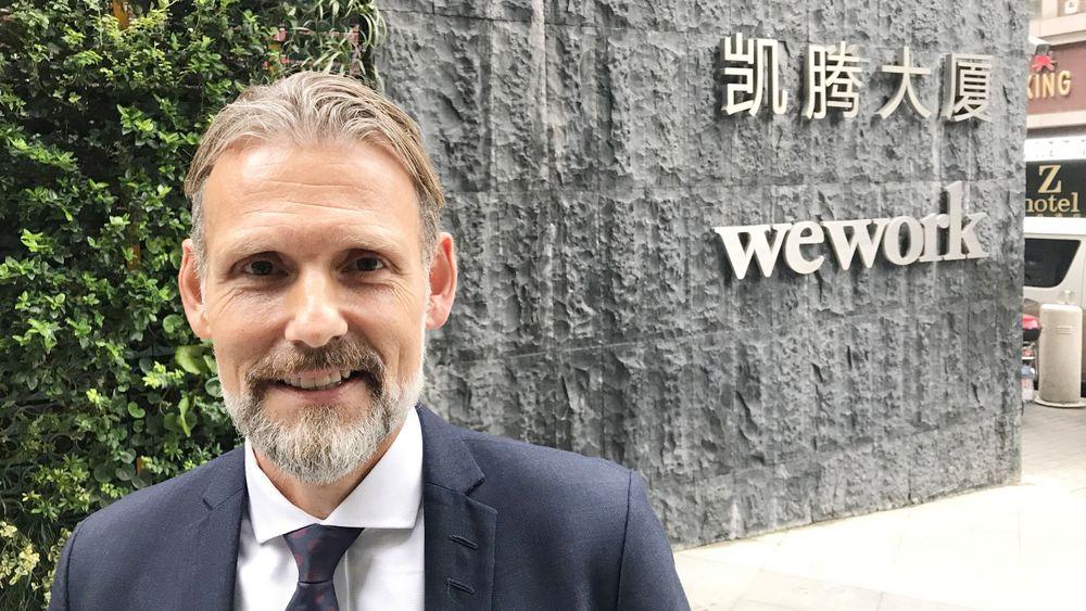 Samarbeid med Wework: Chris Rynning har etablert samarmarbeid med amerikanske Wework for raskt å ekspandere Nhack i Kina.