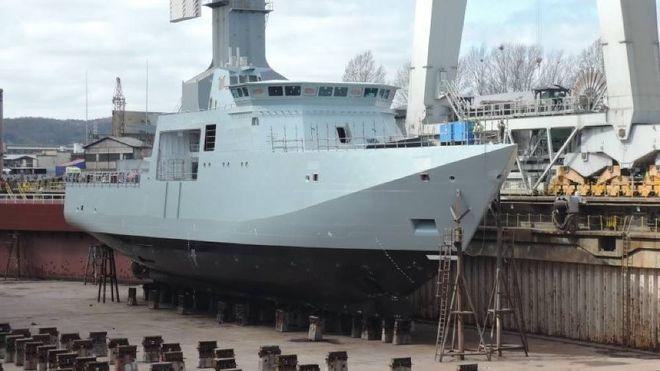 Danmark får kraftig FN-refs etter at nordkoreanske arbeidere bygget krigsskipet Lauge Koch