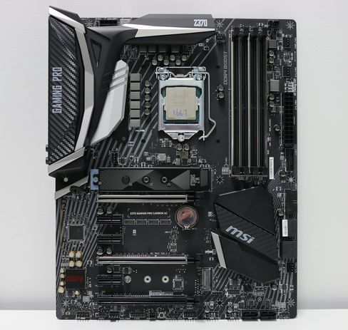 MSI Z370 Gaming Pro Carbon AC med Intel Core i5-8600K.