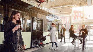 Hvorfor skal folk fryse utendørs når busstoppet kan være inne på kjøpesenteret?