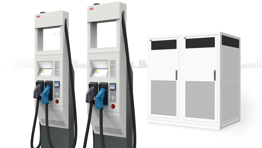 ABB Terra HP-ladestasjoner skal kunne levere 350 kilowatt.