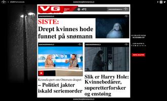 Slik så det ut da VG Partnerstudio lagde kommersielt innhold for filmen «Snømannen»