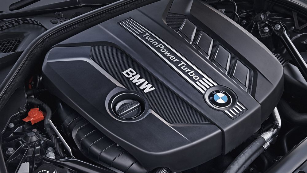 Dieselmotor fra BMW 520d.