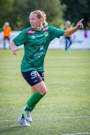 UTLIKNA: Miriam Vilnes Mjåset utlikna mot Haugar i andre omgang.