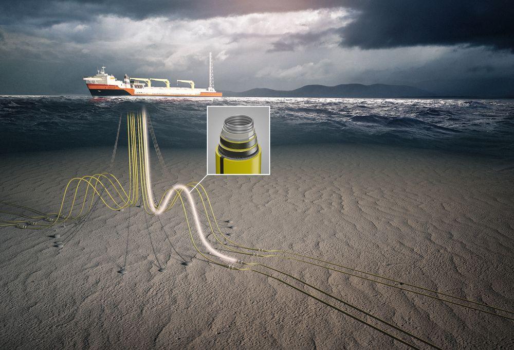 Fleksible stigerør går fra havbunnen til produksjonsenheten på havoverflaten.