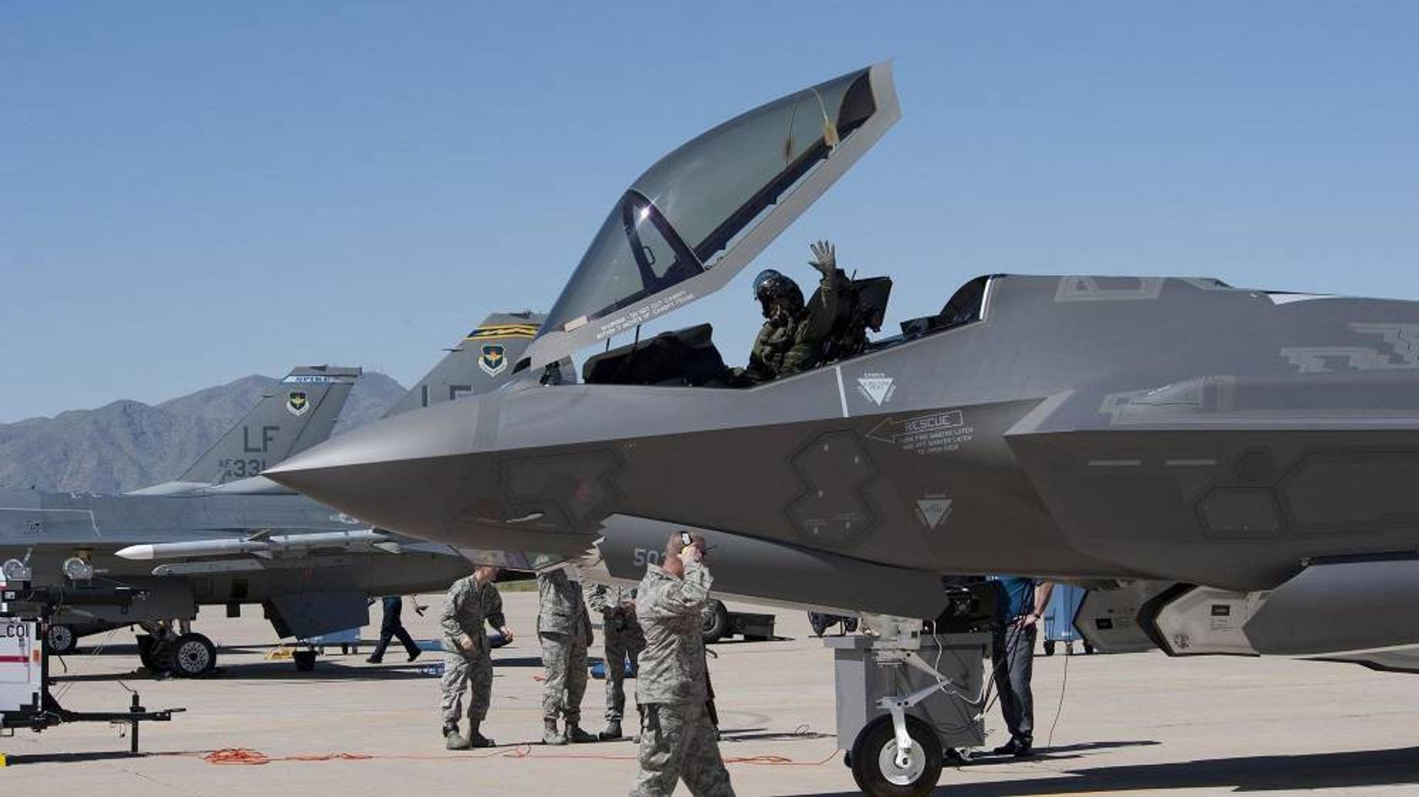 Dette var blant de første av 144 planlagte F-35-fly på Luke Air Force Base som kom dit i 2013.