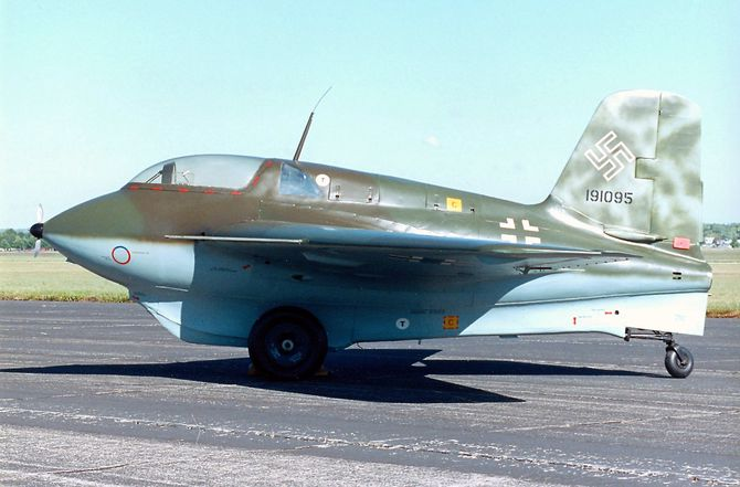 Messerschmitt Me 163B på National Museum of the United States Air Force.