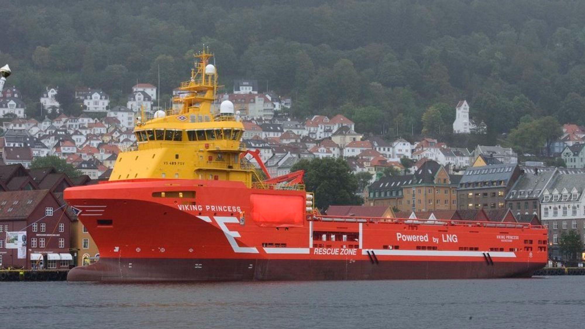 Viking Princess ble bygget på Kleven i 2012 og utstyrt med fire LNG-motorer fra Wärtsilä. Det 90 meter lange og 21 meter brede skipet ble døpt av HKH kronprinsesse Mette Marit. Nå er en motor koblet ut og erstattet av 533 kWh batteripakke.