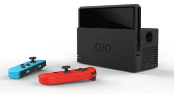 Dette er en trådløs Switch-dokk med innebygget projektor