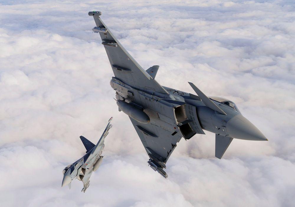 Det tyske forsvaret har store problemer med sine Eurofighter-fly og har satt flesteparten av dem på bakken.