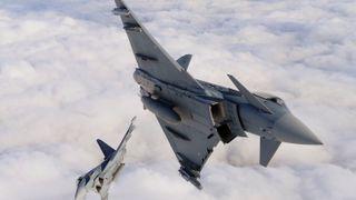 Tyske kampfly er satt på bakken