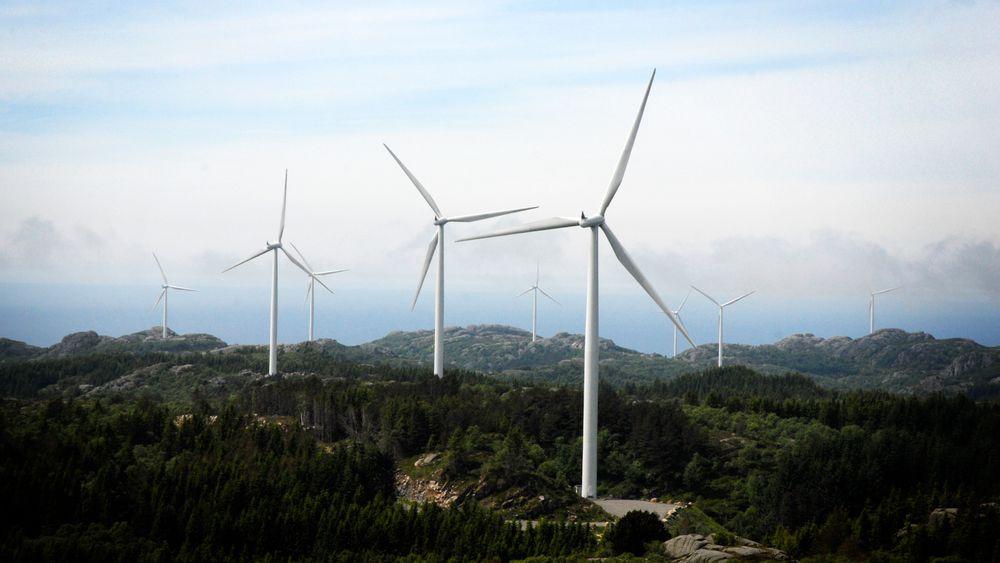 Bildet viser Lista vindpark.