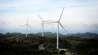 Mer fornybar energi kan bygges ut når CO2-kvoteprisene går opp. Bildet viser Lista vindpark.