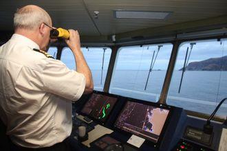 Kaptein Ole Johan Andreassen på Nordlys.