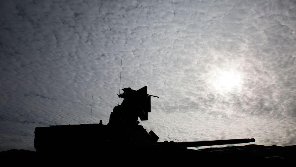 Overlevering av den første CV90 MkIIIb på Setermoen skytefelt for to og et halvt år siden. Foto: Eirik Helland Urke