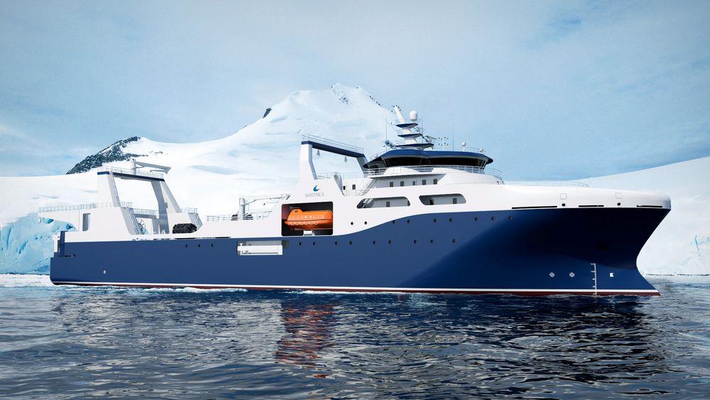 Wärtsilä Ship Design designet en VS 6206 for krillfiske i Antarktis for et kinesisk fiskeselskap i 2016. Nå har Breeze Ship Design mulighet til å bygge videre på designen.