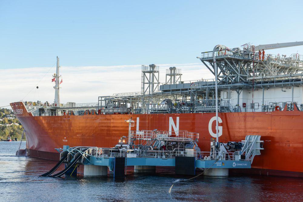 Connect LNG tror markedsmulighetene er store for sin UTS (Universial Transfer System). UTS-en kan erstatte bygging av kostbare og tidkrevende LNG-terminaler. Byggetiden for den 21 x 21 meter store enheten på 200 tonn var 6 måneder. For å simulere overføring fra store skip, ble den øverste manifolden på skipet benyttet.