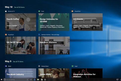 Timeline-funksjonen ble ikke helt klar, men kommer senere, lover Microsoft.