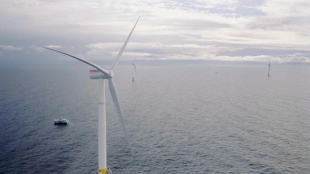 Vindturbin på Statoils Hywind-prosjekt.