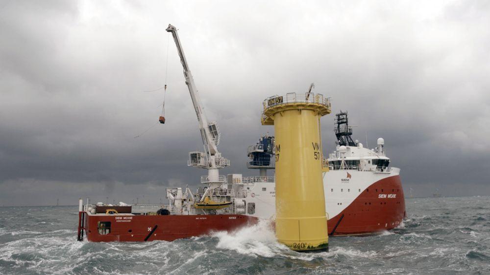 Siem Moxies bevegelseskompenserte gangvei gjør at den kan betjene vindmøller i opp til tre meter høye bølger.