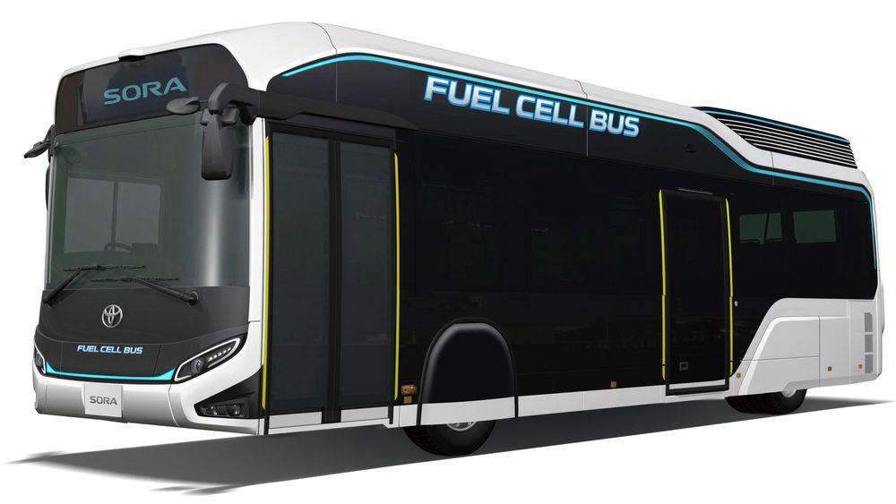 Toyota lanserer ny hydrogenbuss-konseptet Sora, mens den ferdige versjonen kommer for salg neste år.