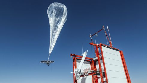 En av ballongene i Googles Project Loon.