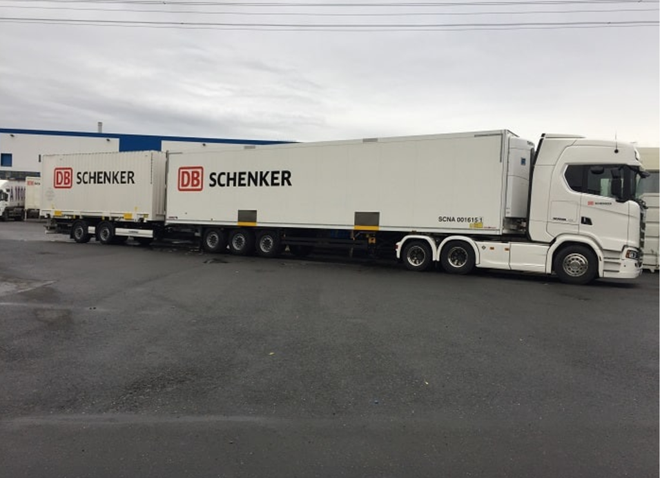 DB Schenker 25,25 m for Transport & Logistikk Gardermoen 23.-24. oktober 2017.