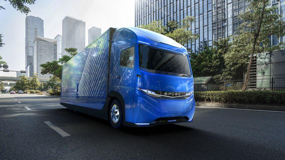 Slik ser Daimler for seg E-Fuso Vision One.