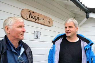 Gründere: De to gründerne og rederne, Arnt Eidesvik (t.v.) og Kjetil Tufteland, var lenge de eneste norske rederne med slaktebåt (Thomas Førde).