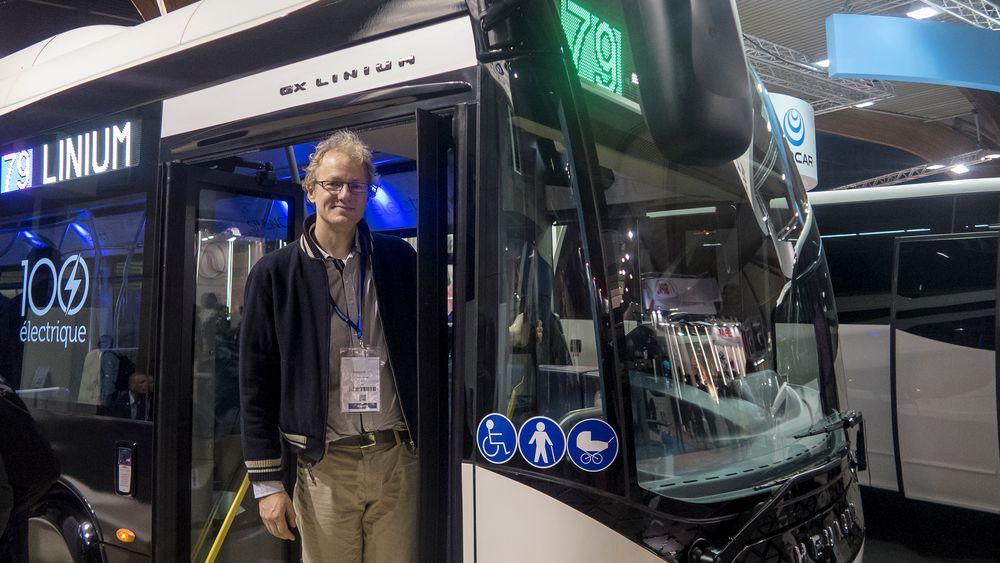 I Mekka: Teknologiansvarlig i Zero Marius Gjerset likte godt å se det voldomme fokuset på elbusser på  Busworld i Kortrijk i Belgia