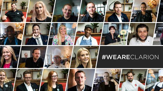 FØLG MED: WeAreClarion er en kampanje som viser frem noen av hotell-Norges beste medarbeidere.