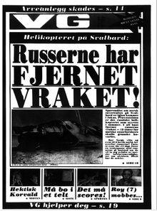 Faksimile av VG 7. september 1977.