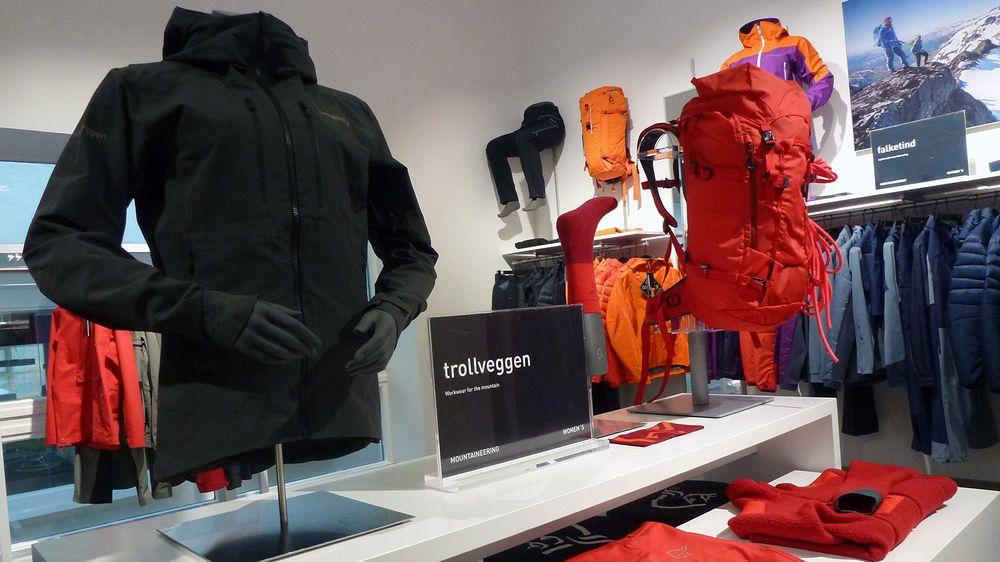 Trollveggen er en av de mest kjente Norrøna-kolleksjonene. Her fra showroomet på Lysaker.