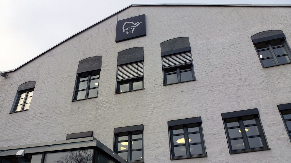Norrøna holder til i denne gamle fabrikkbygningen fra 1862.