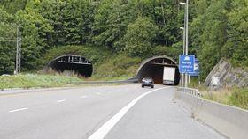 STENGT: Slik ser det ut når tunnelen er åpen.