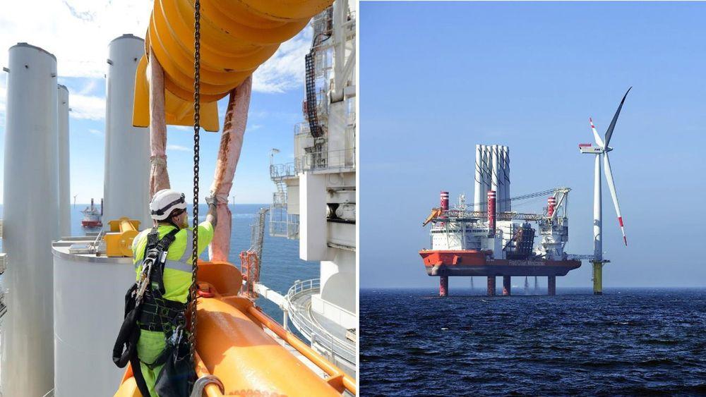 Global Wind Service er en av de største i Europa på onshore og offshore innstallasjon, ifølge dem selv. Mens Windcarrier har installert 300 turbiner. Bilder fra moderselskapet Fred. Olsen Ocean.
