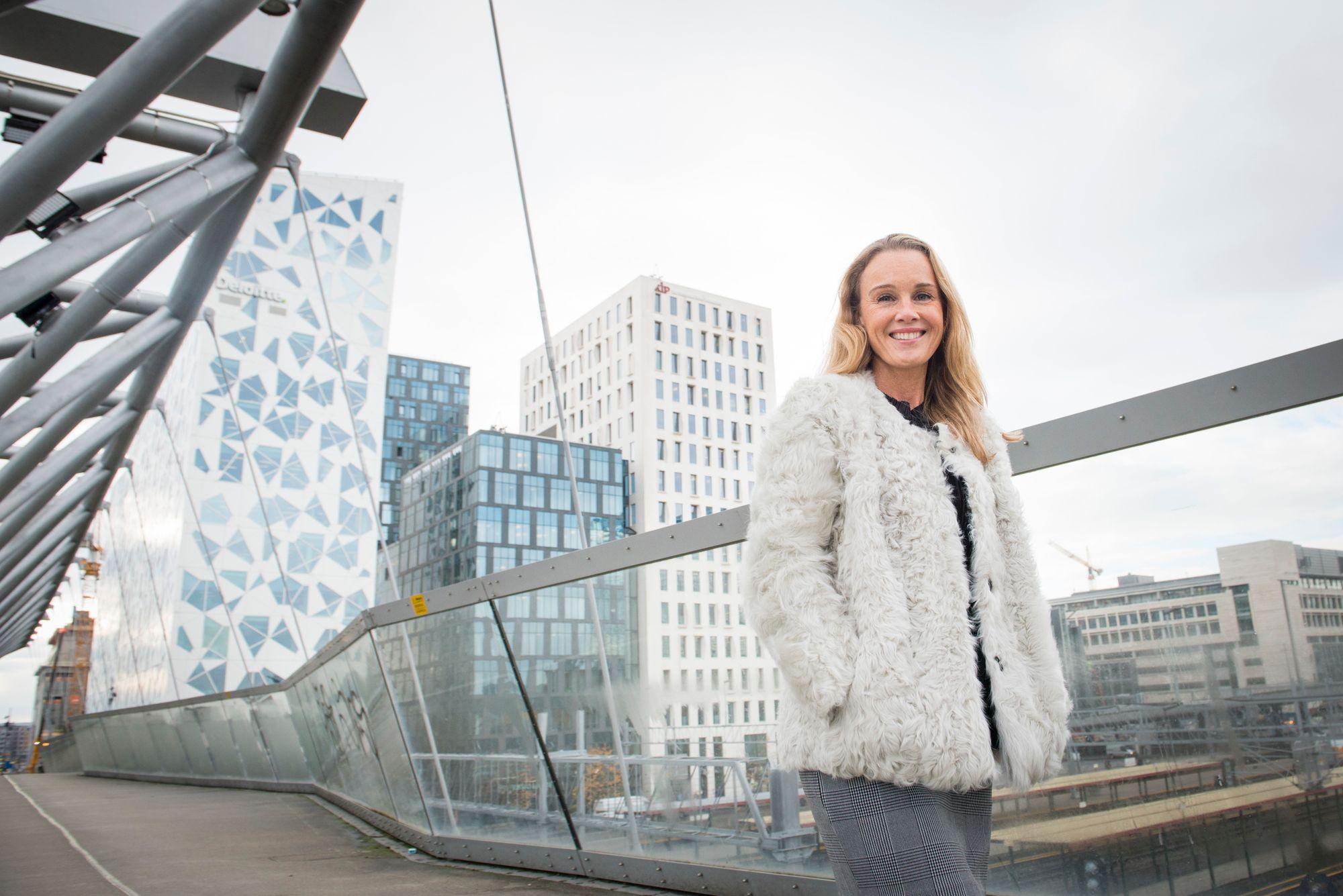 GLAD SJEF: Maria Louise Rognerud, direktør Bygulv i Oslo S Utvikling, gleder seg over utviklingen.