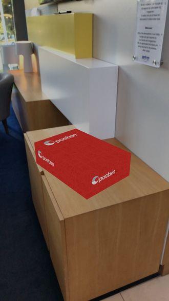 Du kan se hvor stor pakken er og plassere den i rommet – eller for eksempel sjekke om den får plass i bagasjerommet før du henter den.