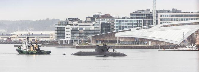 Den tyske ubåten U-36 (S186) tilhørende 212-klassen ble tatt i bruk første gang i oktober i fjor. Her er den på oslobesøk.