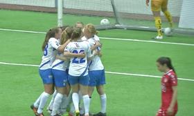 MÅLGLEDE: Det ble uavgjort i sist oppgjør mellom Grand Bodø og Kolbotn, men det var stor glede over Kolbotns eneste mål i kampen!