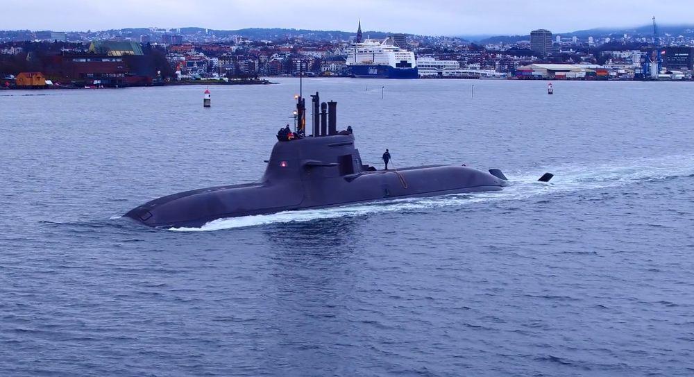 Den tyske 212A-ubåten U36 i indre havnebasseng i Oslo for snart to år siden.