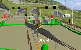 ViaNova Plan og Trafikk jobber mot løsninger som støtter opp BIM nivå 3. Her en modell fra E6 langs Mjøsa.