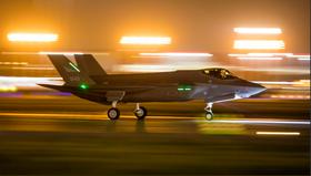 Norsk F35 tar av fra Forth Worth med kurs for Ørland kl. 06.35 den 3. november.