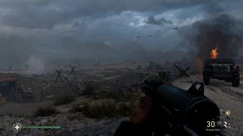 Strendene langs Normandie i etterkant av invasjonen.